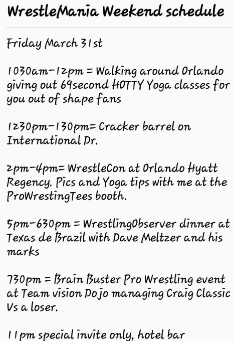 Hey #TrinaManiacs, heres part of my #Wrestlemania schedule for next weekend in Orlando.... https://t
