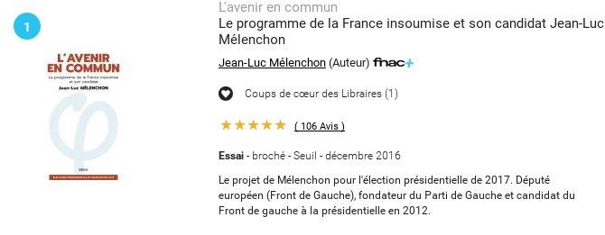 L&#39;#AvenirEnCommun &amp; #DeLaVertu respectivement n°1 &amp; n°3 des ventes de la #Fnac La Force de la #FranceInsoumise est avec #JLM2017, #Jedi2017!<br>http://pic.twitter.com/ITcBv70u2w