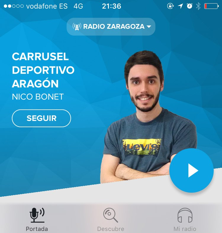 ¡Atento todo el mundo que empezamos a las 19:45! Te esperamos detrás de la radio o del móvil, a través de la App de la SER: Almería-Zaragoza