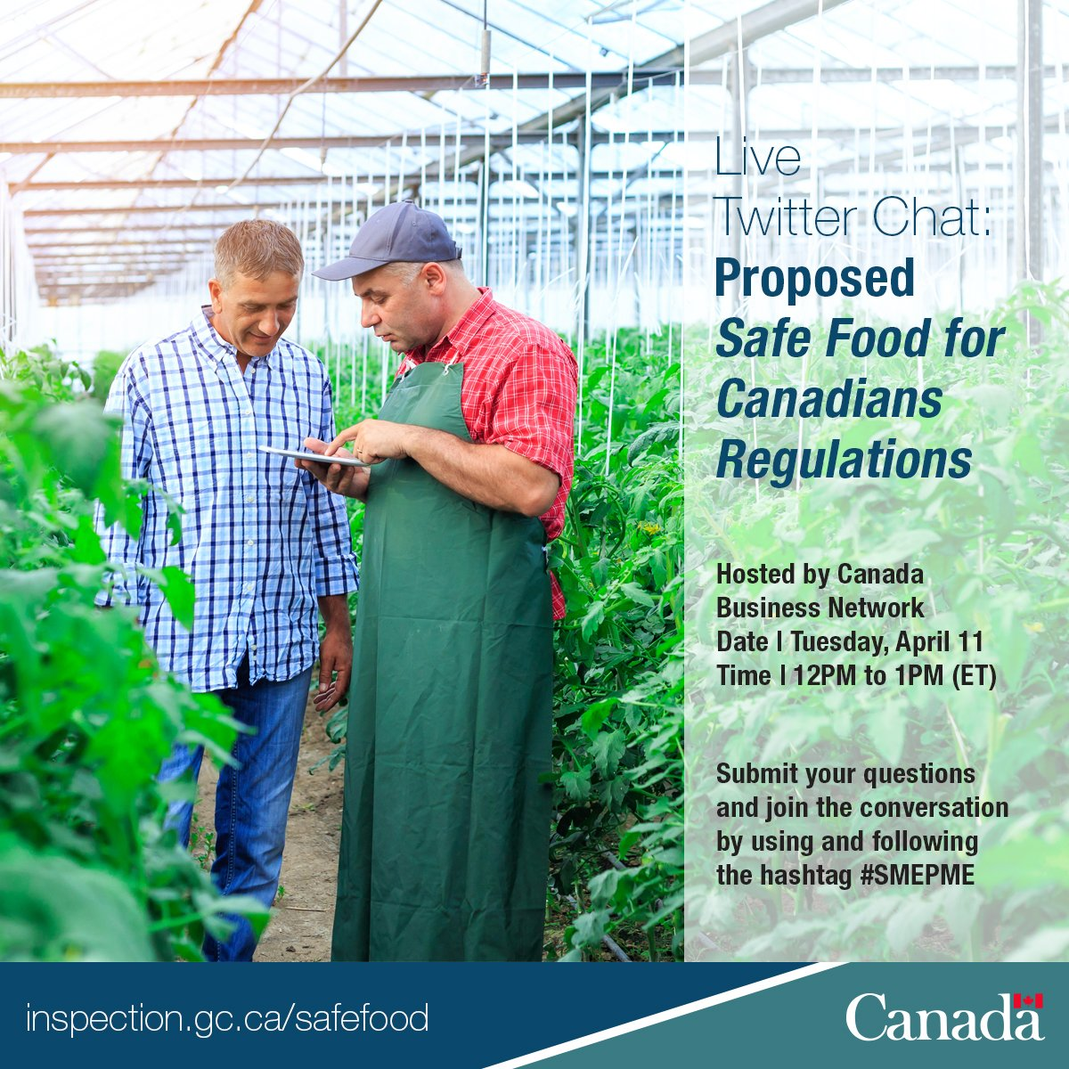 Learn abt #SafeFoodCan via upcoming live chat hosted by @canadabusiness Mark your calendar. #SMEPME https://t.co/zbYj1AE3s0 https://t.co/5iW7OBoP4W