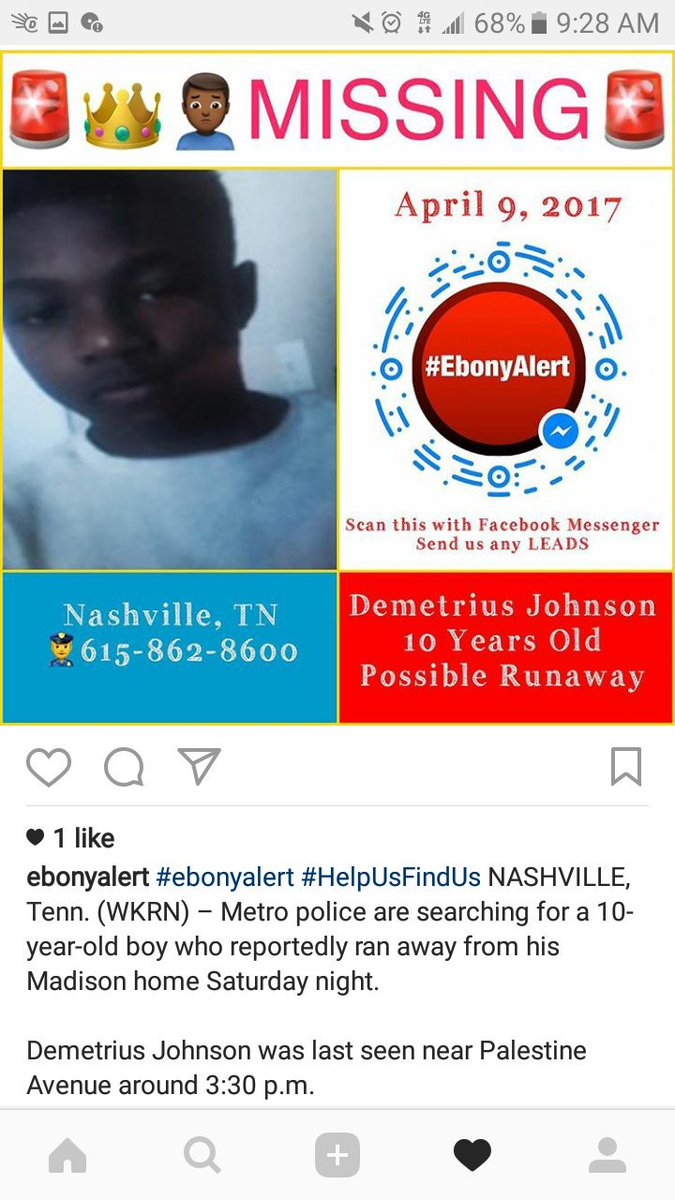 #missing #TENNESSEE  #DemetriusJohnson Possible #Runaway<br>http://pic.twitter.com/Pr972DK860