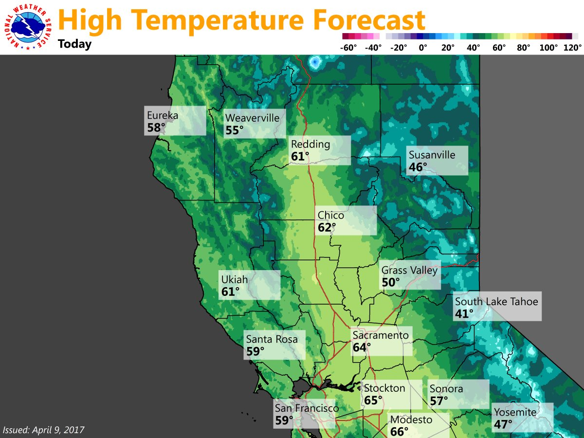 Nws Sacramento On Twitter Mild Weather Expected Today Should Be