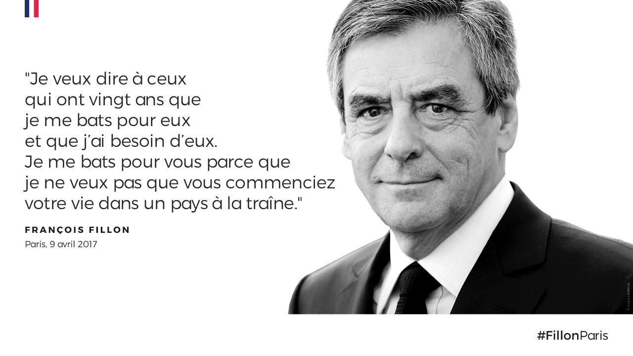 'Je veux dire à ceux qui ont 20 ans que je me bats pour eux et que j'ai besoin d'eux !' @francoisfillon #FillonParis https://t.co/mzDlyxBbKg