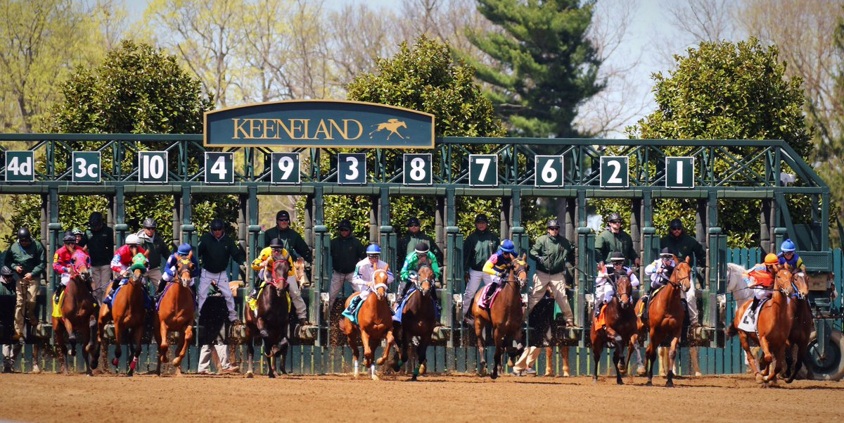 And the Spring Meet at #Keeneland is off! https://t.co/n34IlAdytz