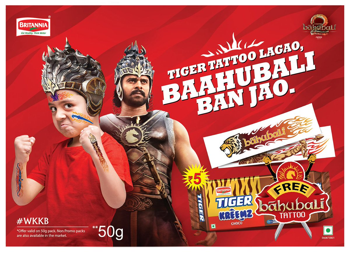 Image result for baahubali 2 tiger biscuit