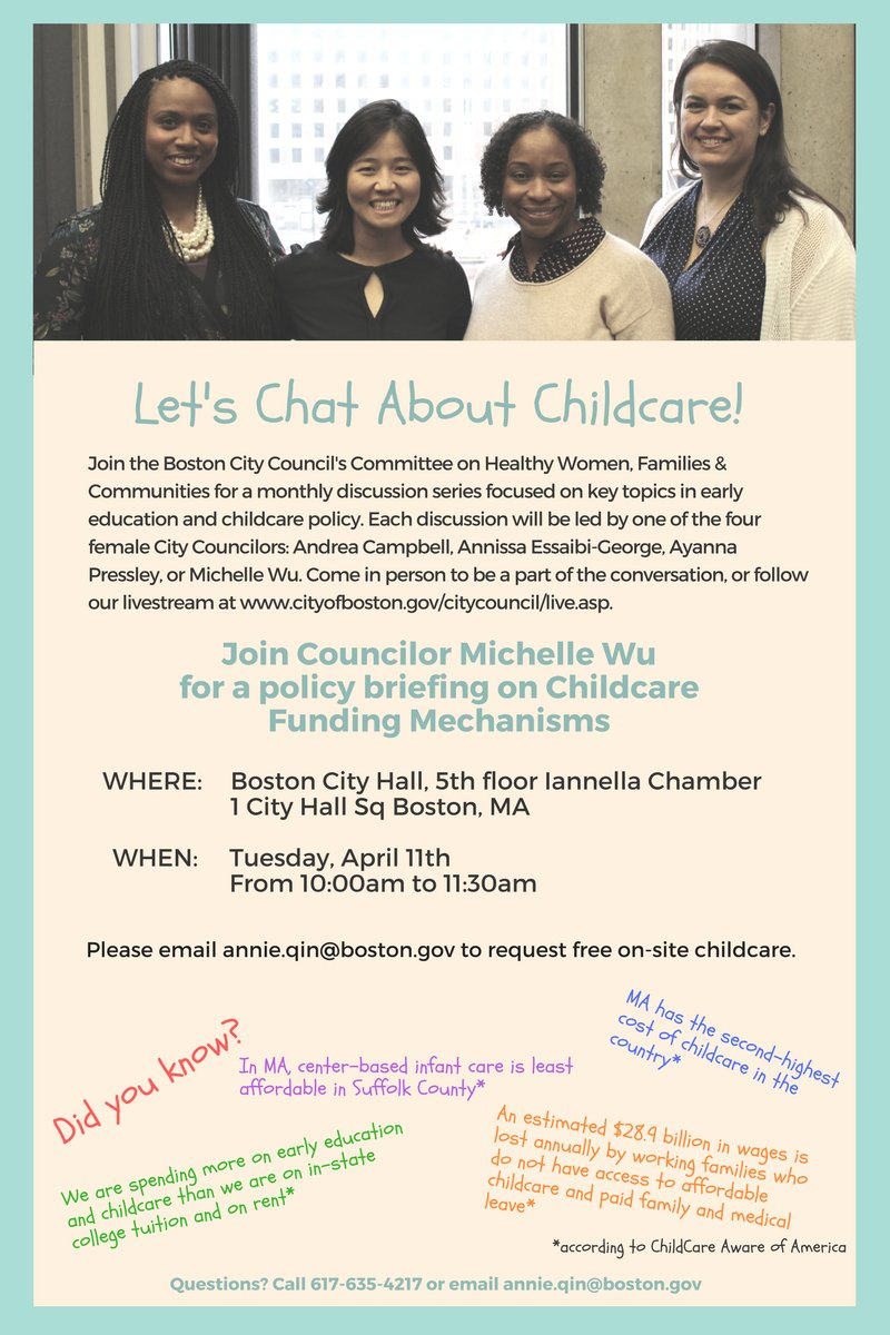 ayanna pressley on twitter third hearing in our earlyedandcare ayanna pressley on twitter third hearing in our earlyedandcare policy briefings series is next tuesday at 10am hosted by wutrain re childcare funding