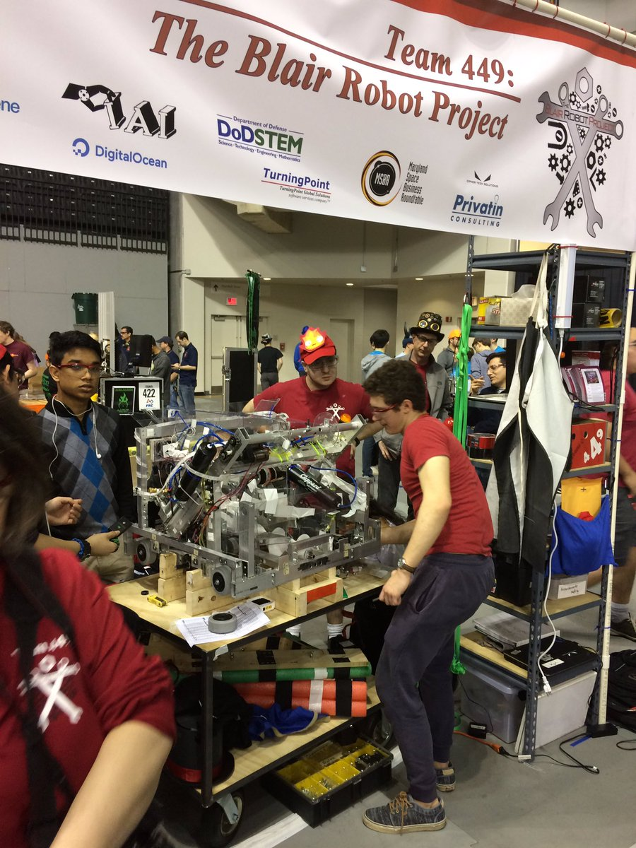 Robotics Team at the Chesapeake District Championships