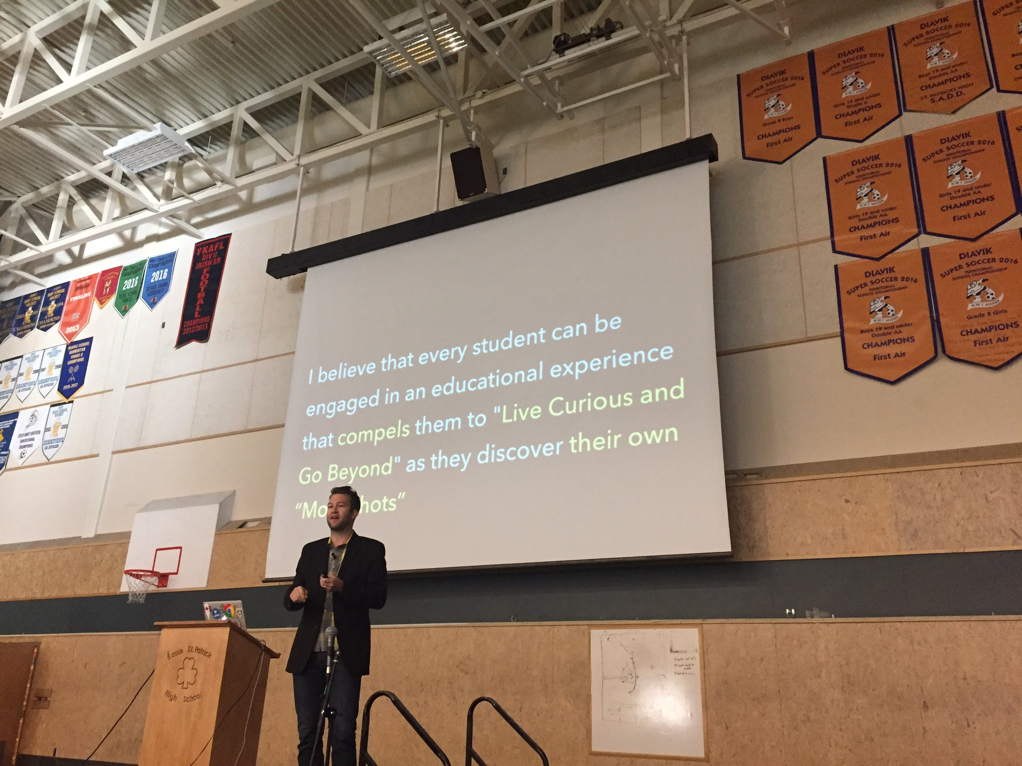 "Great message from @Hamm_Ed for the staff @ycsnwt. How can you ""go beyond"" the content? https://t.co/wyWWt7UMSW"