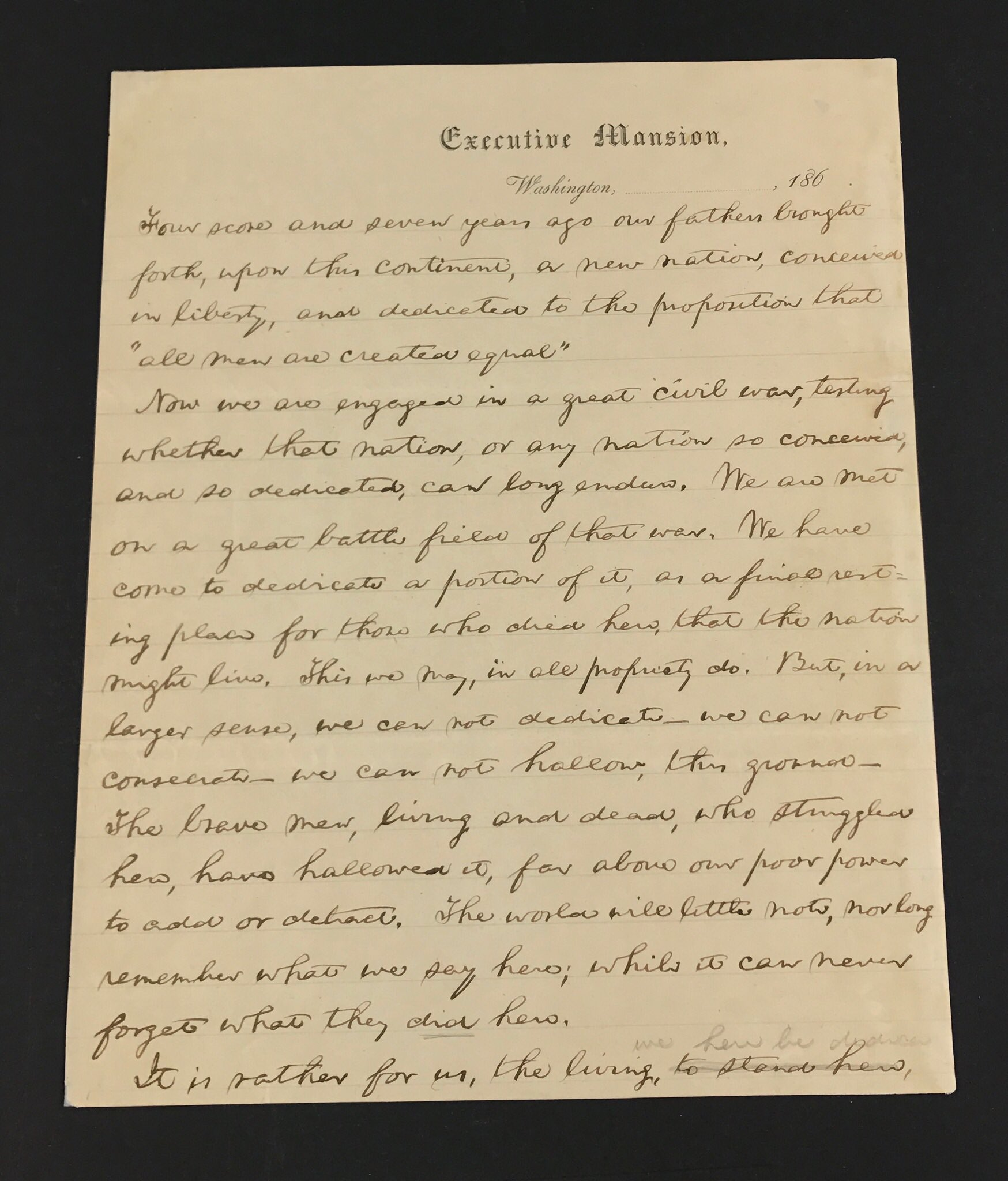 We're digitizing Lincoln's draft of the Gettysburg Address. Love sharing these treasures from America's Library. https://t.co/TsN42YcbhA