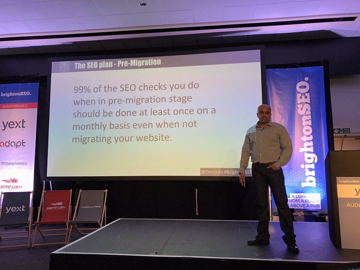 An excellent reminder from @OmiSido at #BrightonSEO https://t.co/1zkEMNOzml