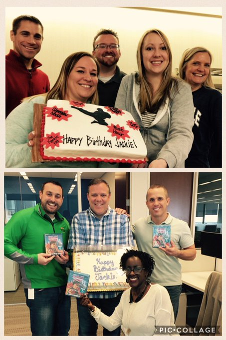 When your boss is Jackie Chan\s biggest fan. You celebrate. Happy Bday from Indiana and Maryland!