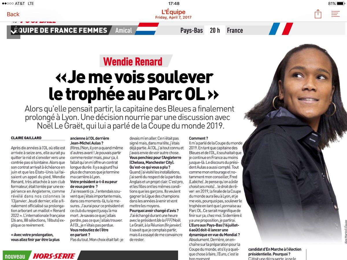 Wendy renard interview - Lindsay Krasnoff On Twitter Fierce Terrific Clairegaillard2 Interview W Captain Wrenard Her To Do Bucket List Franco Francaise C1 Final Wwc2019