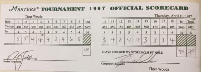 darren rovell on twitter   u0026quot the scorecard that tiger woods