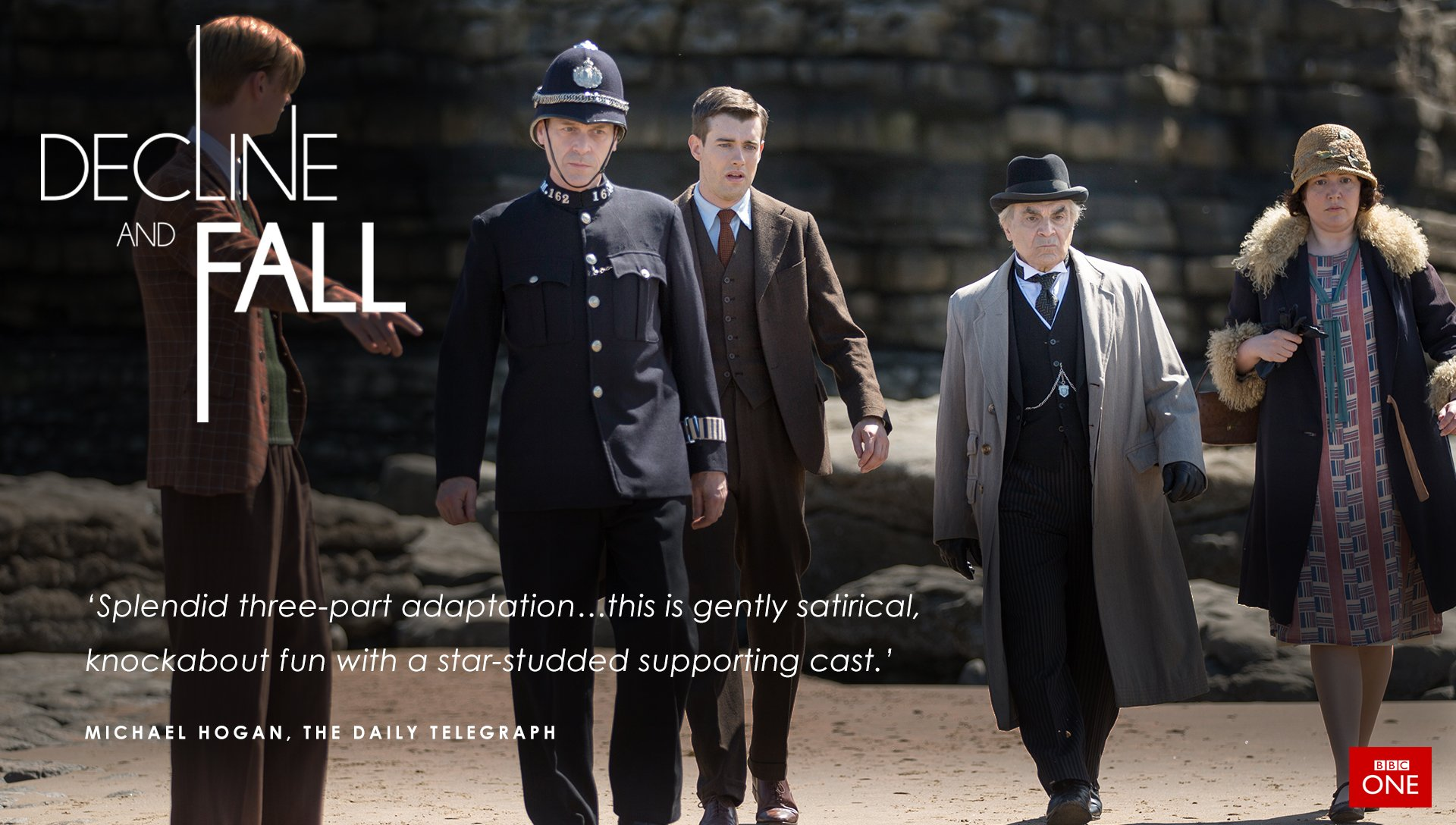 Just 20 minutes to go until #declineandfall. Episode 2 starts at 9pm on @BBCOne! https://t.co/ObcCwgqJpR