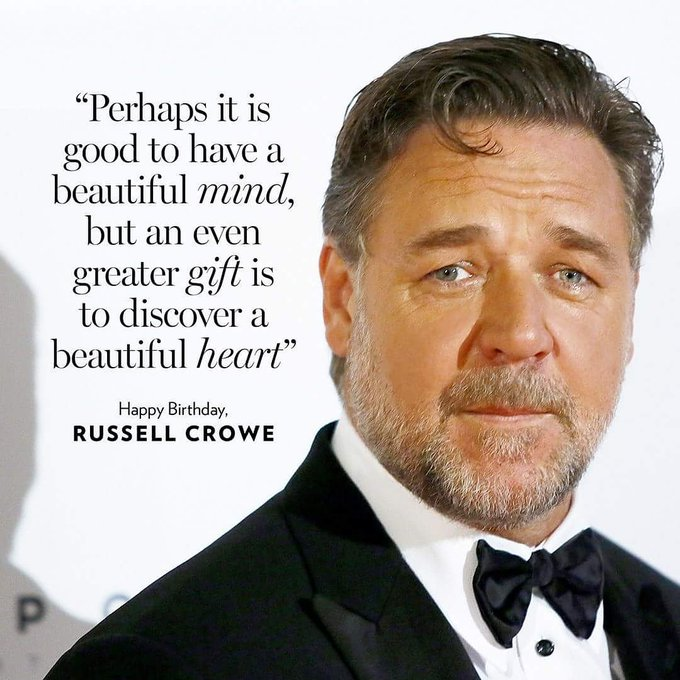 Happy Birthday to my perennial favourite actor Russell Crowe ...