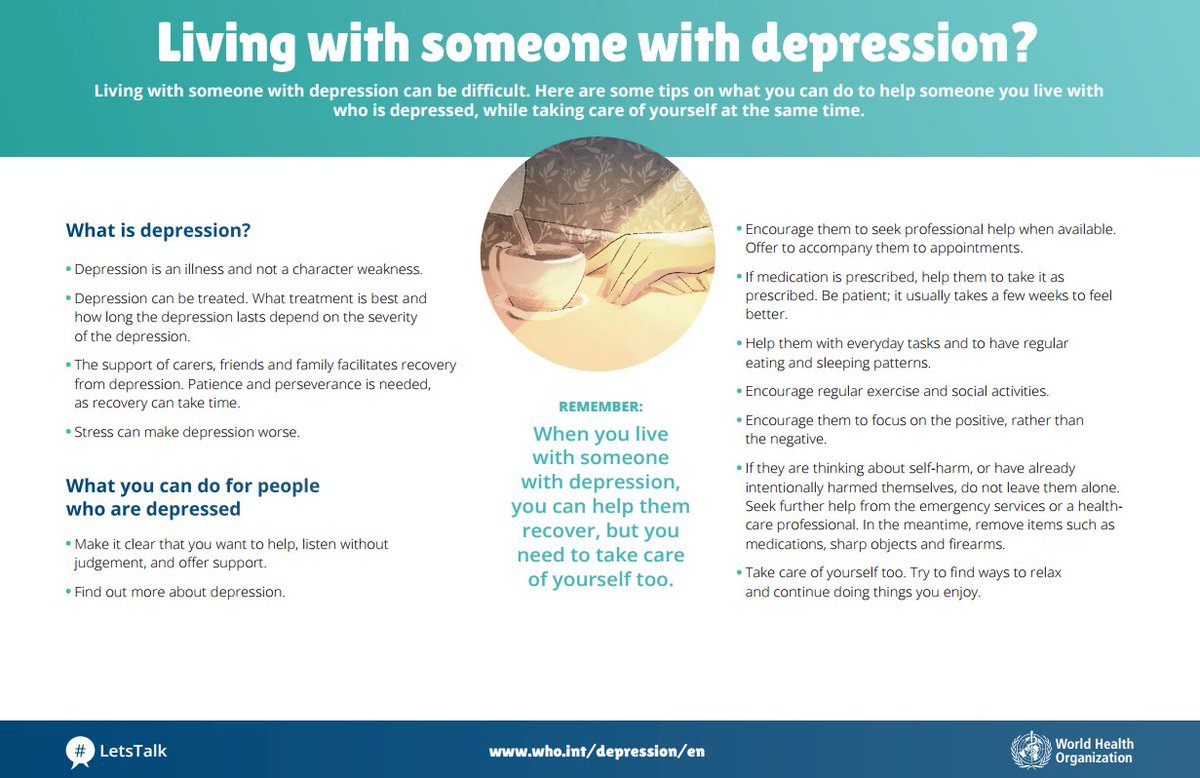who on twitter depression is not a sign of weakness letstalk living someone depression you can help them but you need to take care of yourself too letstalkpic twitter com xatzrebwtn