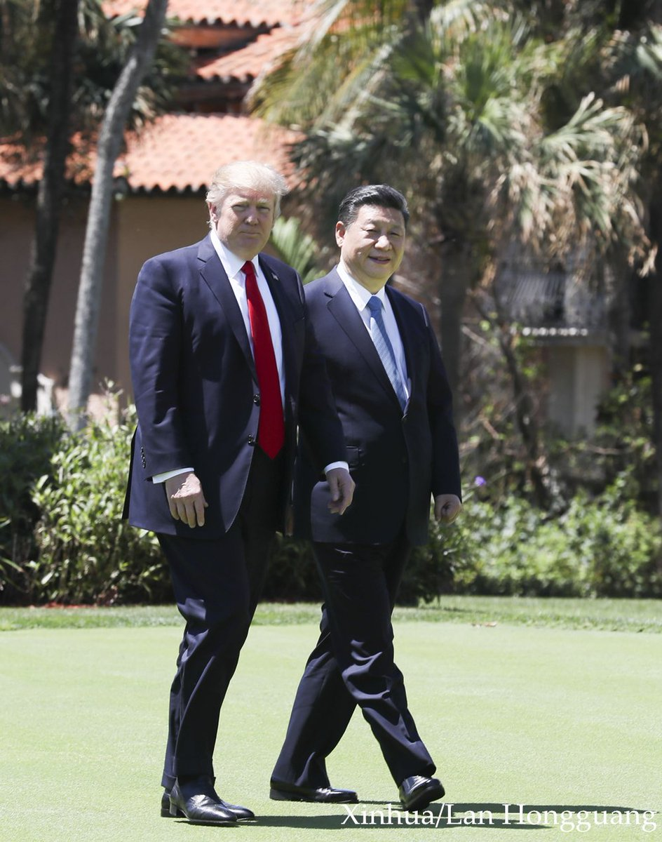 xinhua news on chinese president xijinping and xinhua news on chinese president xijinping and u s president donald trump take a walk to further discuss bilateral ties in the mar a lago