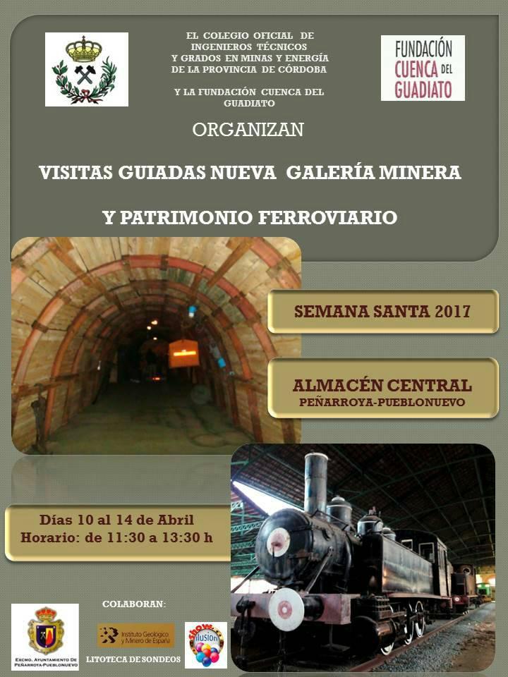 Cartel Visitas Guiadas Galería Minera de las miñas de Peñarroya Pueblonuevo