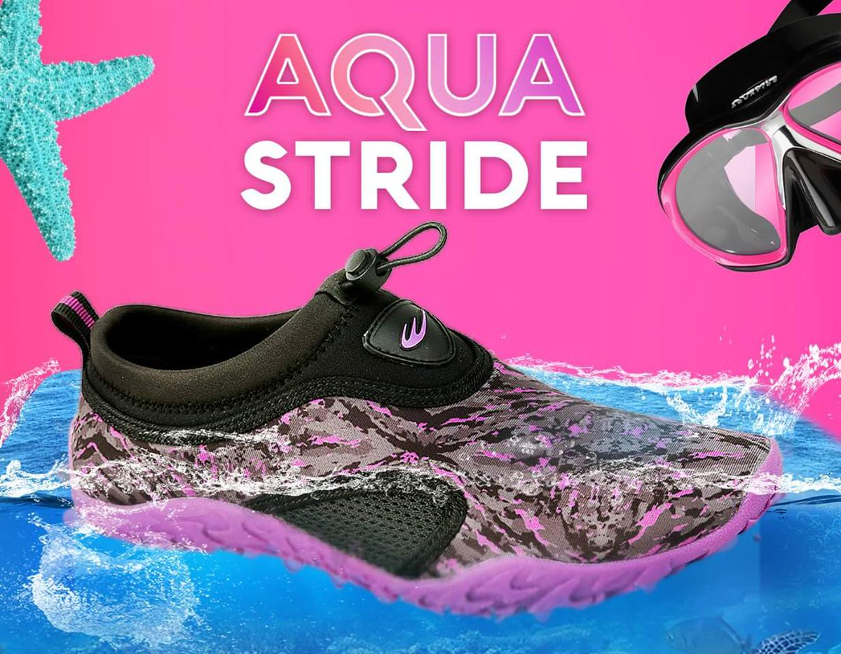 hit the beach in your AQUA STRIDE shoes