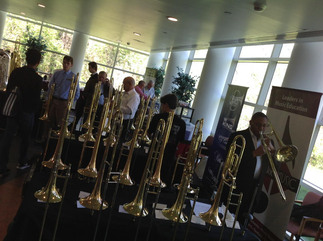 Lots of trombones at Trombone Festival at #UNCG. A big Saturday at the G. https://t.co/ls74fXfrWk
