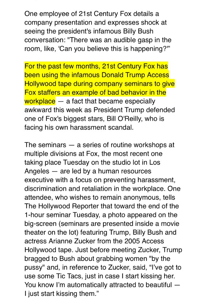 Fox Is Using Trump's 'Access Hollywood' Tape As An HR Tool In Sexual Harassment Seminars