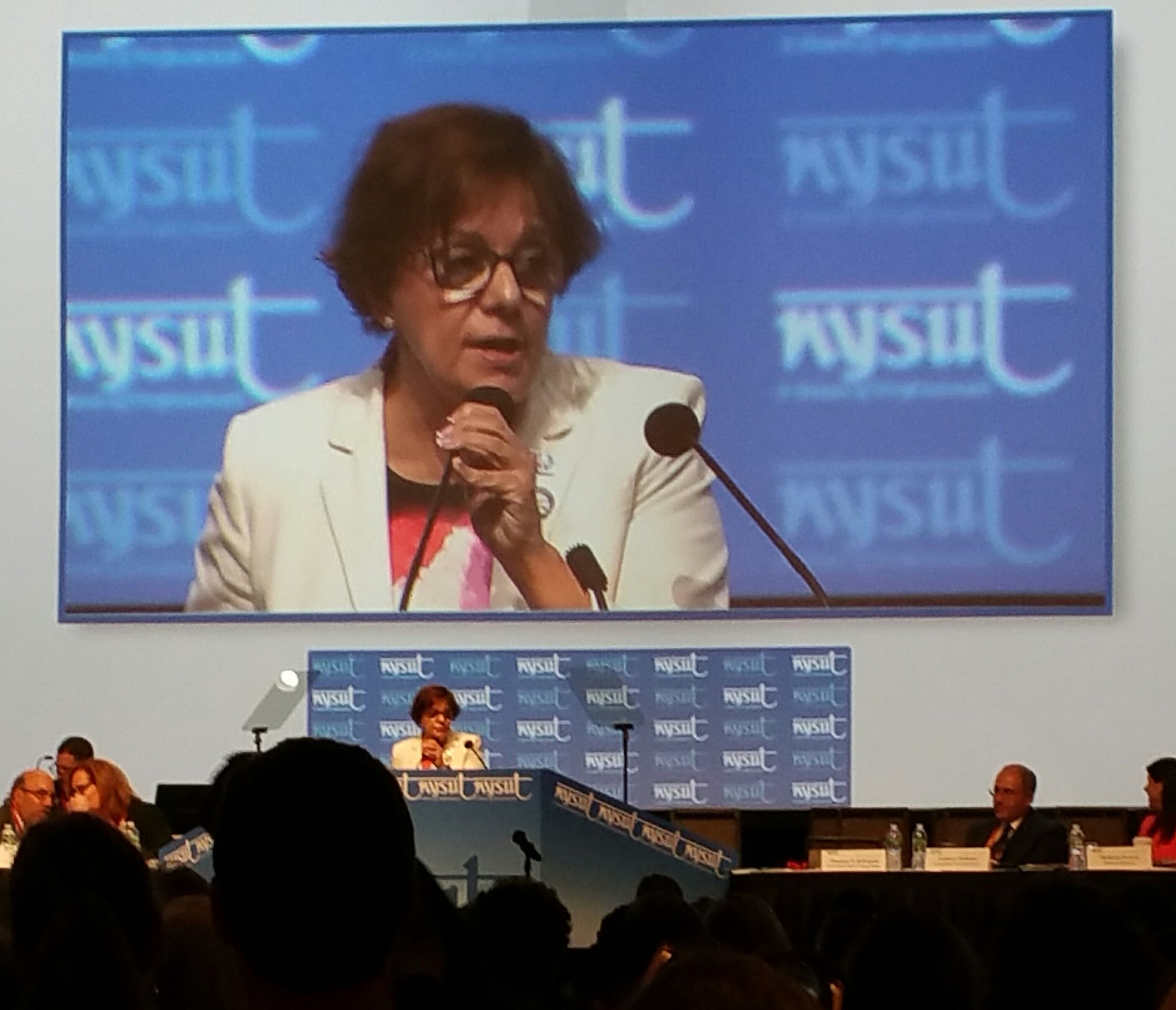 "TY Catalina Fortino, for your work as NYSUT VP. We hope you keep ""slaying Dragons"" as you retire! @NYSUTNCRO #nysutra2017 https://t.co/CAl97zvdMh"
