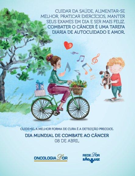 Hoje é o Dia Mundial de Combate ao Câncer! Cuide-se. A melhor forma de cura é a detecção precoce. #RedeDOr #OncologiaDOr