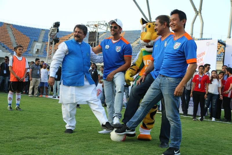 Hrithik Roshan, Bhaichung Bhutia attend MXIM football festival in Ahmedabad