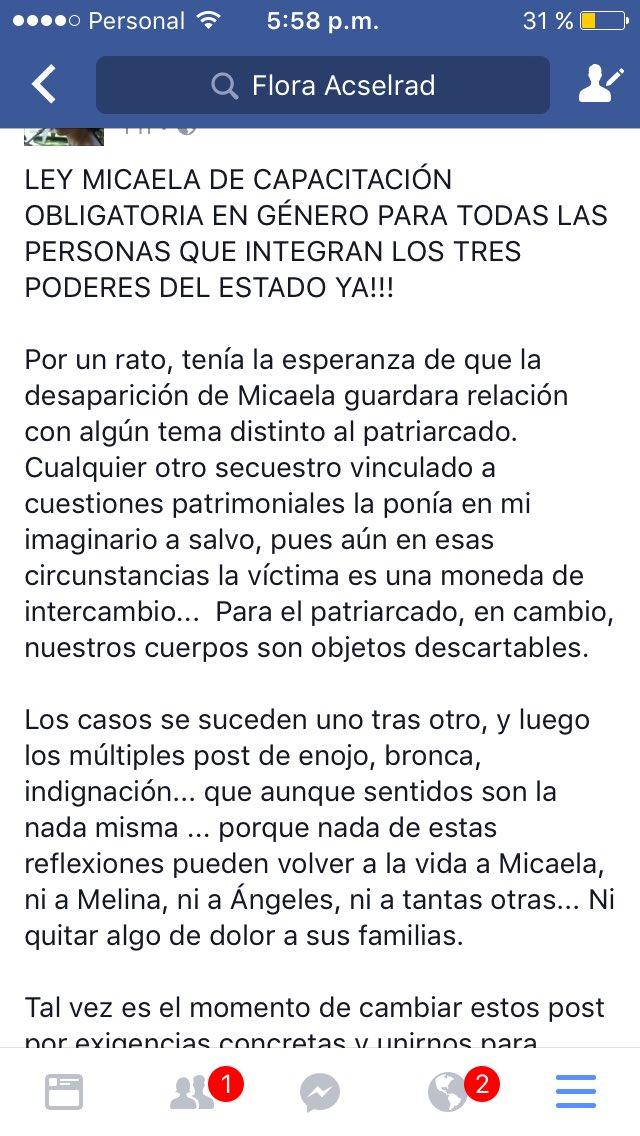 #LEYMICAELA #NIUNAMENOS https://t.co/Xr2YhHJLqy