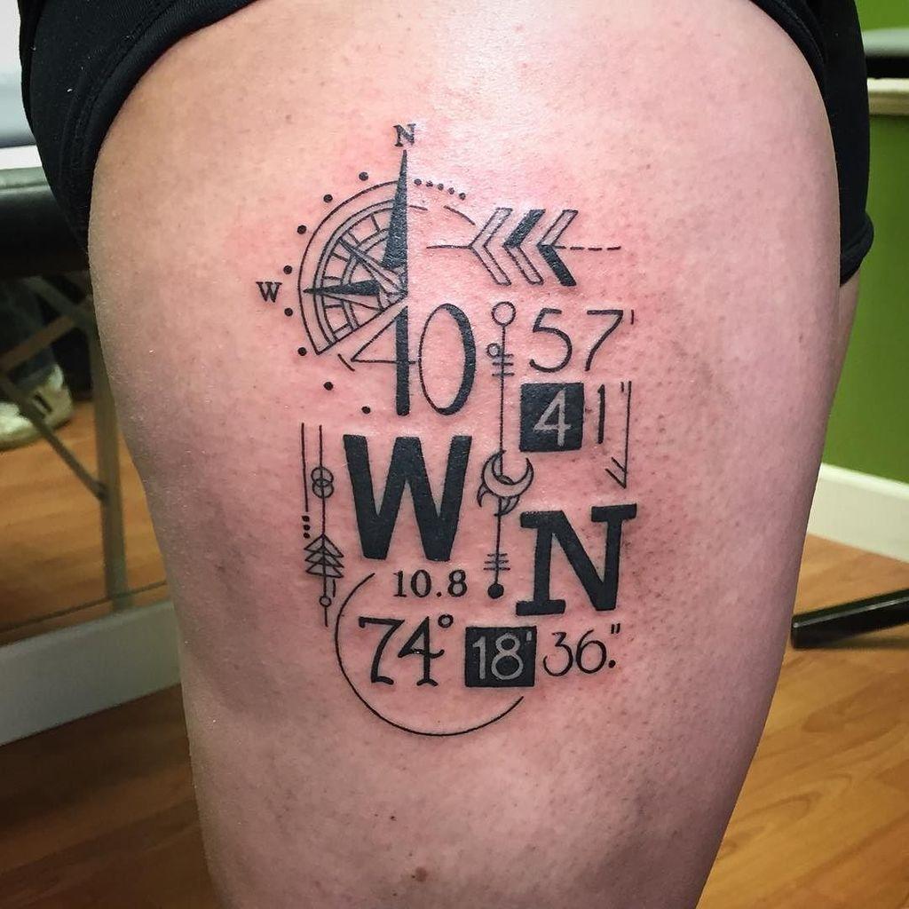708843c2d Globe Latitude Longitude Tattoo Related Keywords & Suggestions ...