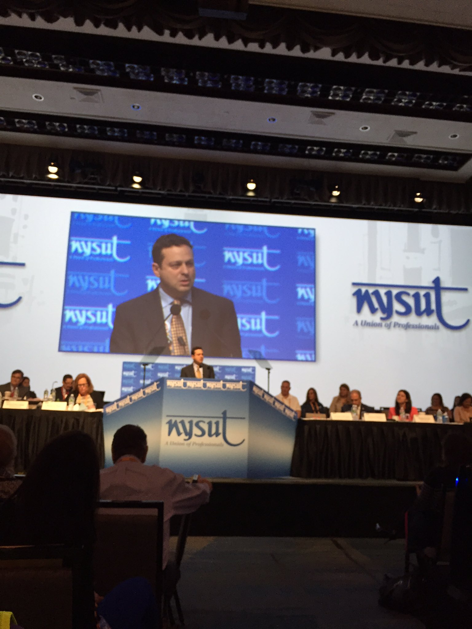 ".@nysut VP @PaulPecorale ""Our union is committed to what is right, just, and fair"" #nysutra2017 #NYSUTRA https://t.co/LM9XwrLqHx"