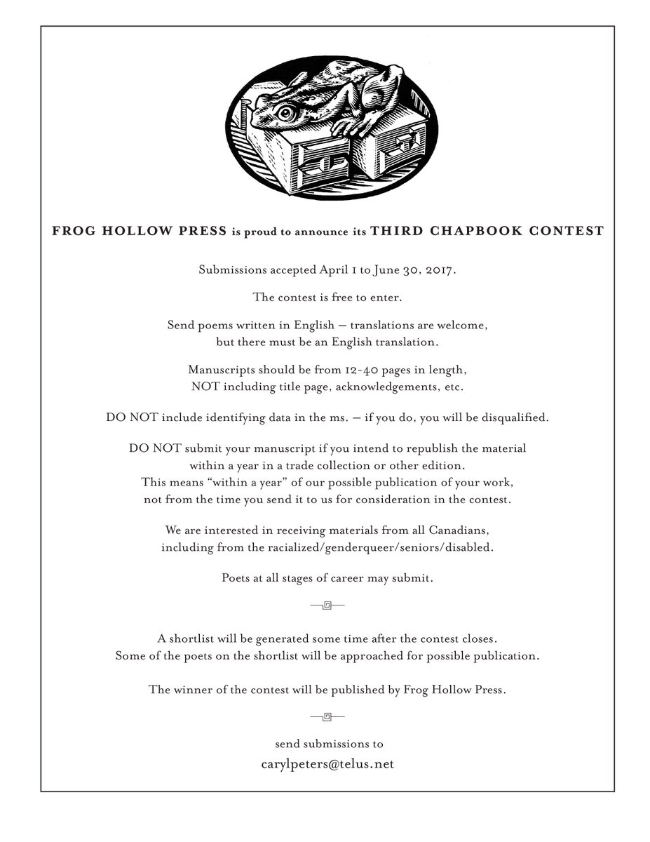 Frog Hollow Press on Twitter: