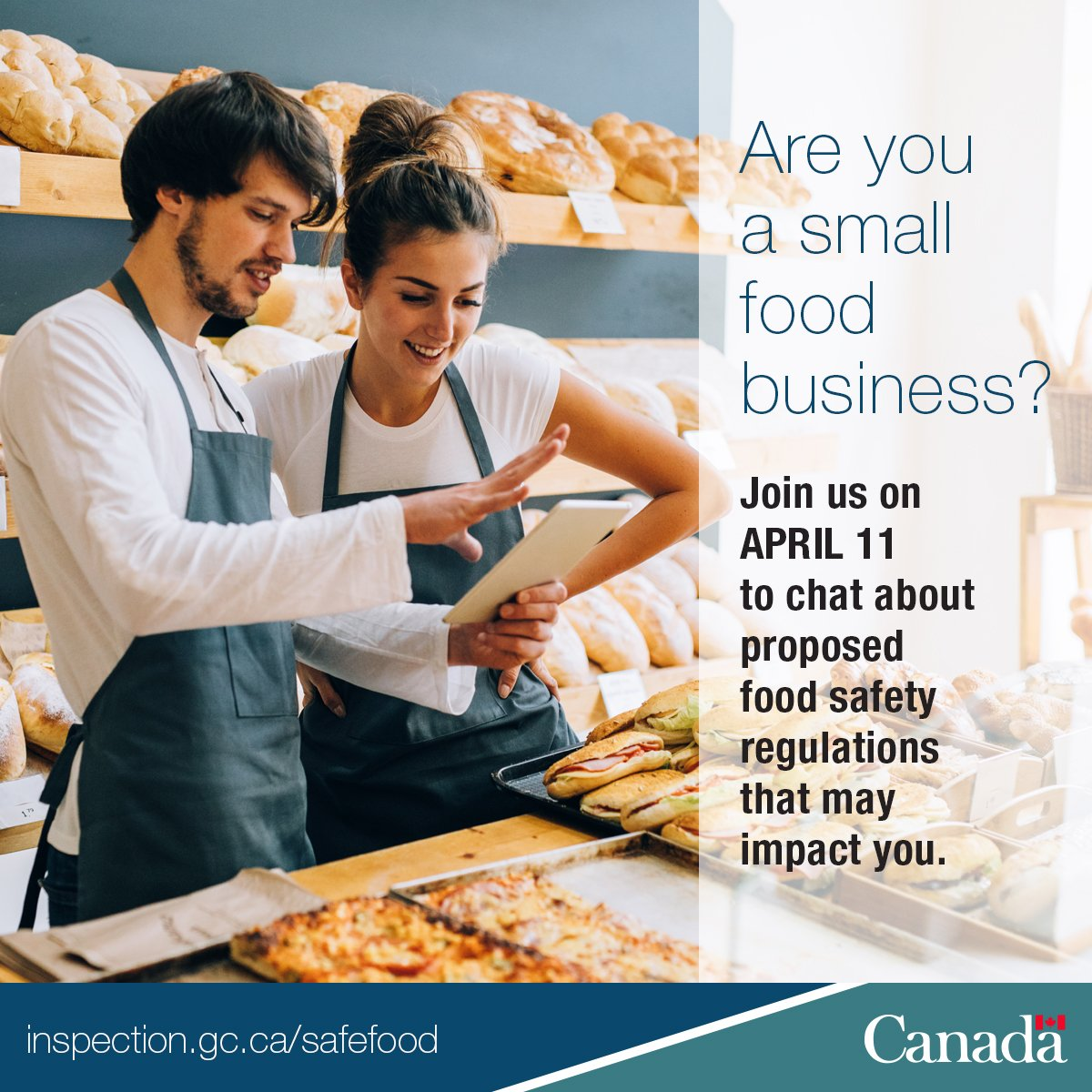 Seeking answers to questions re: #SafeFoodCan regs? Join upcoming live chat on April 11 #foodbiz #SMEPME https://t.co/zbYj1AE3s0 https://t.co/f2rhk1GYKW