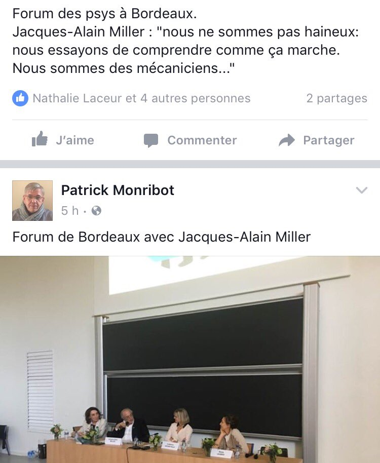 #Jacques Alain Miller #Bordeaux #ArmeDuVote via Patrick Monribot sur FB<br>http://pic.twitter.com/4WYmjT2JvA