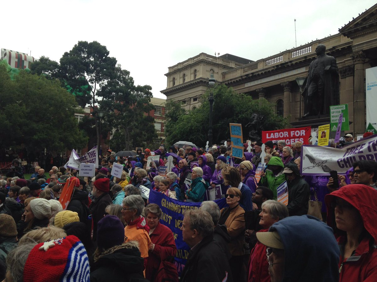 In Melbourne - & across the country - Australians call for Justice for #Refugees & end to the harm #BringThemHere https://t.co/BBAQQTaSUq