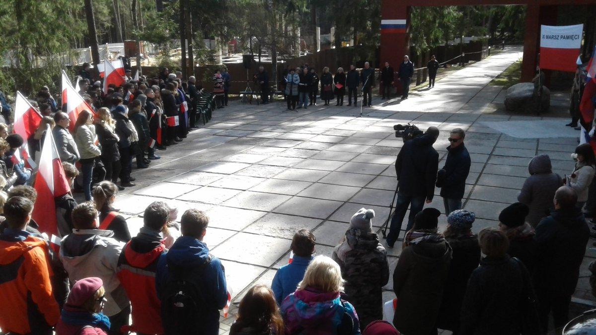 Smolensk region of Russia: March in memory of Katyn massacre