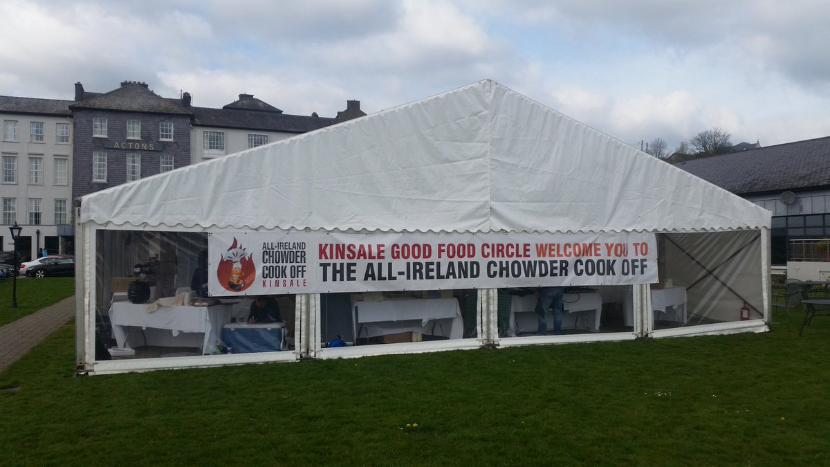 "kinsale, co. cork on twitter: ""marquee is up in actons and the sun"