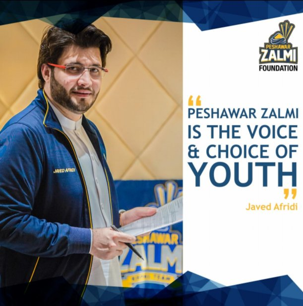 "#KhpalChairman @JAfridi10 Vision made #KhpalTeam not Just Cricket Team but ""The Choice & Voice of Youth"""