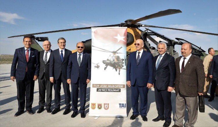 الجيش التركي يتسلم المروحية الـ20 محلية الصنع نوع T129 ATAK  C89ufkOW0AAR2Xd