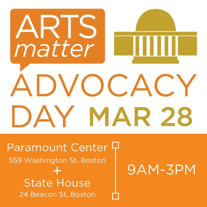 Show your support - Arts Matter Advocacy Day #AMAD17 (3/28) → https://t.co/zuP7HlXuOQ #artsmatter #artsadvocacy https://t.co/ajfjRZ3Tki