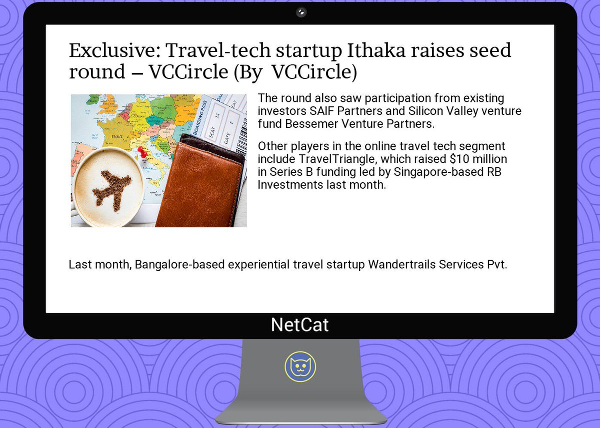 #startup #summary: exclusive:  #travel- #tech  #startup  #ithaka raises  #seed  #round –  #vccircle<br>http://pic.twitter.com/MEIVG1nREH