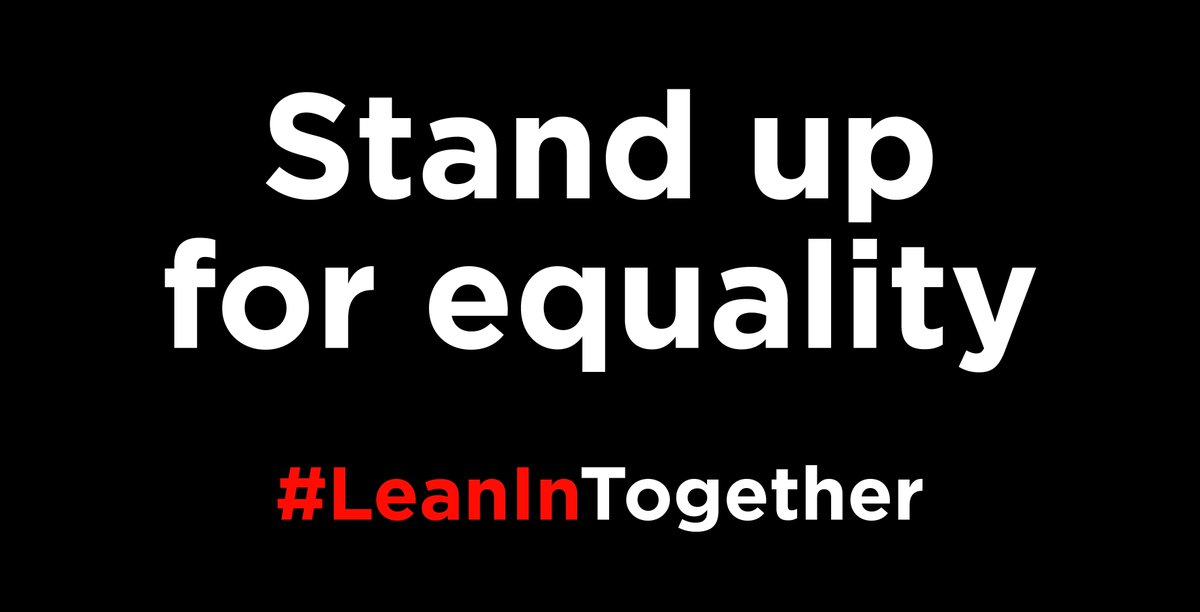 We're proud to #LeanInTogether for gender equality. Join us and let us...