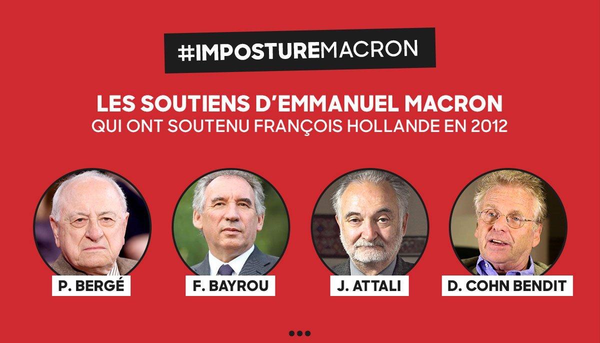 Voter #Macron, c'est voter #Hollande ! #LaMajoritéEnMarche #ImpostureMacron<br>http://pic.twitter.com/eD42Op4R9p