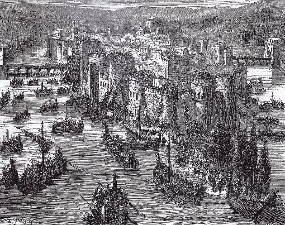 #OnThisDay in 845: #Viking raiders infiltrate #Paris and collect a hef...