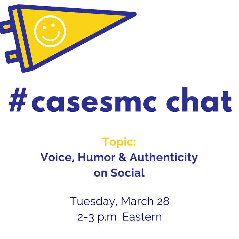 Calling all #hesm folks! Join us for today's #casesmc chat with @jeremiahdbarba. (Do come prepared with your funniest posts/GIFs.) https://t.co/EeKnbssWEF