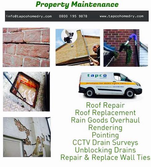 Are #repairs needed at your #property? Call Tapco for advice - we deal with various property maintenance requirements. #damp #roof #repairs<br>http://pic.twitter.com/QYx7elVJWh