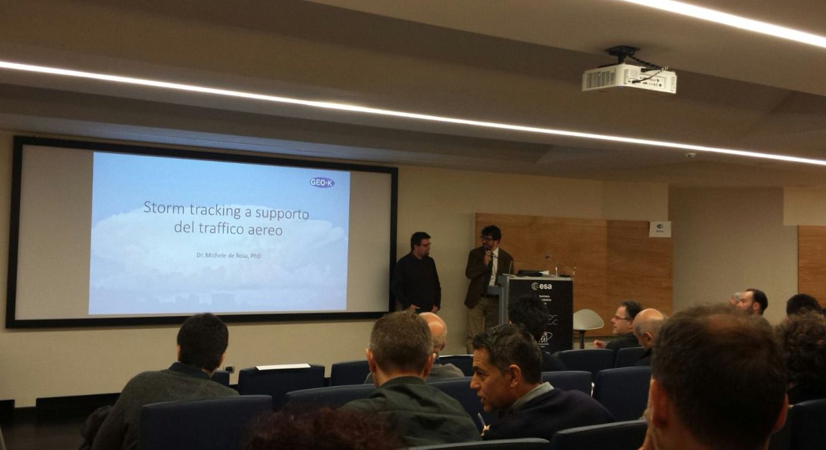 the #GEOK #spinoff and the #storm tracking #algorithm for #airtraffic management have been presented during the #Fabspace @BICLazio openday<br>http://pic.twitter.com/W4zUcRABd6