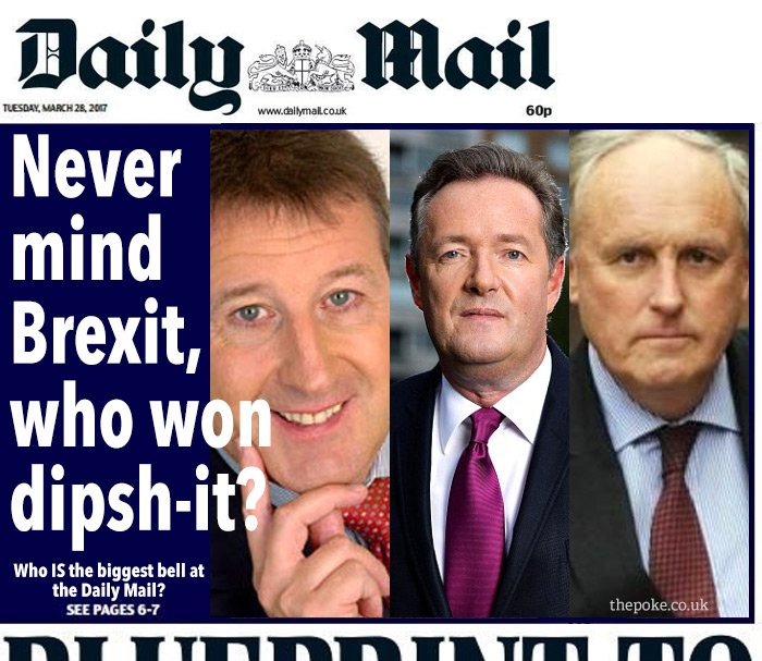 A more appropriate front page for today's Daily Mail #legsit  https://...