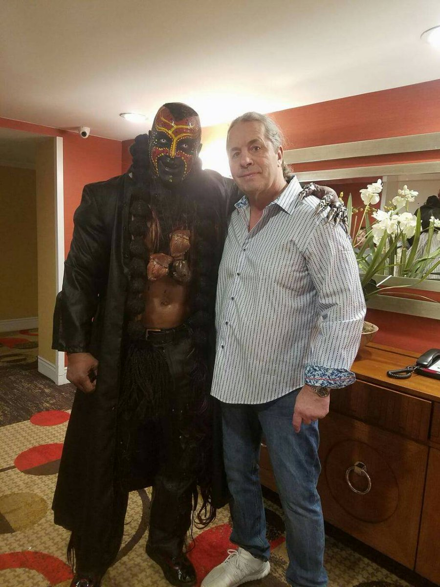It's WrestleMania week where we get photos of random pairings like thi...