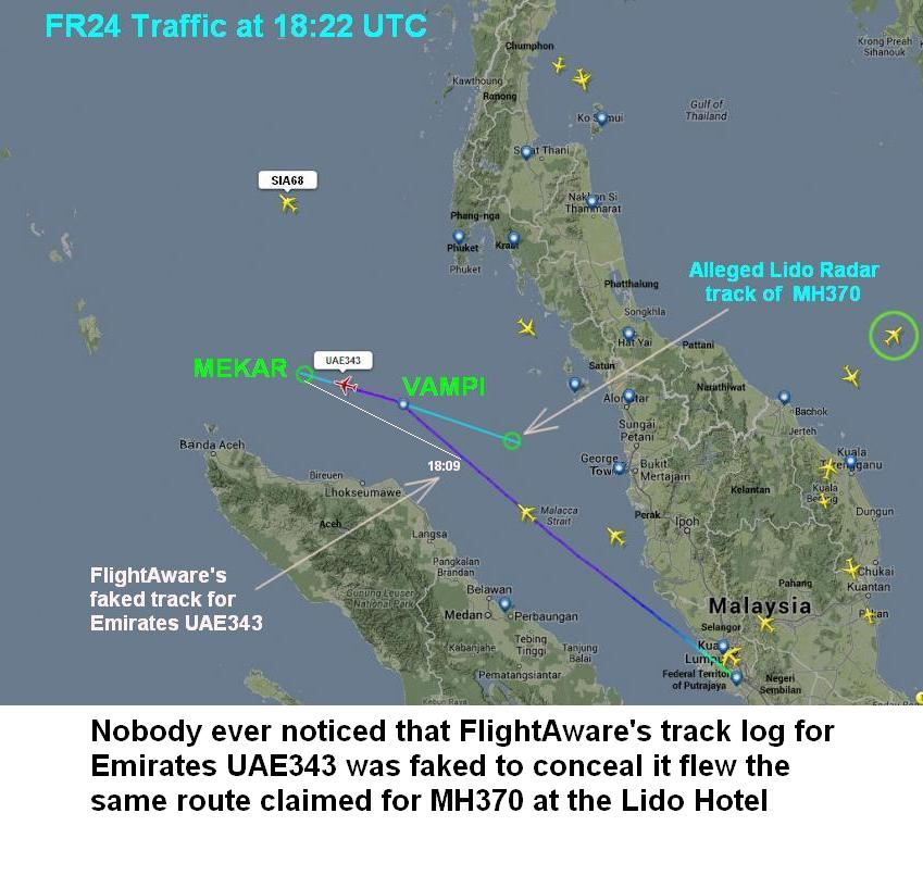 #MH370 @cryfortruth Nobody ever noticed Malaysia faked the Emirates 343 track for MH370 at the Lido Hotel<br>http://pic.twitter.com/sPdhJ4DKO0